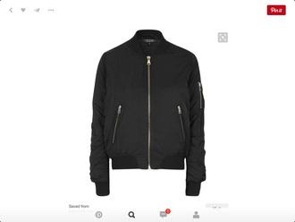 jacket alpha black bomber jacket topshop