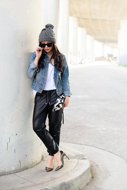 the fancy pants report blogger pants shirt hat jacket shoes bag sunglasses