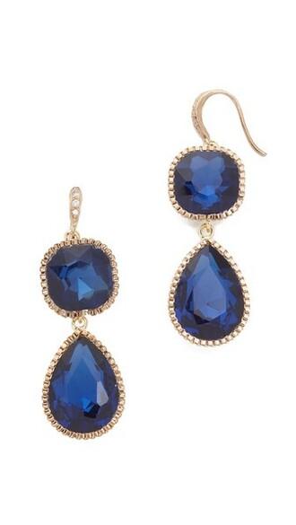 earrings blue violet jewels
