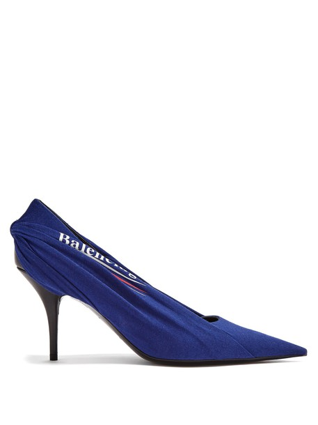 Balenciaga pumps navy shoes