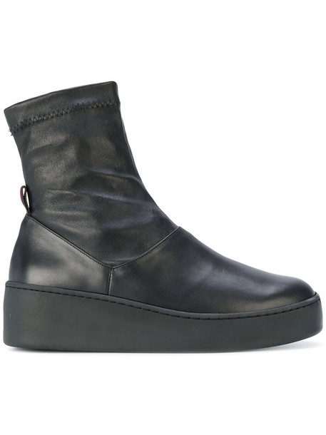 Robert Clergerie women boots leather black shoes