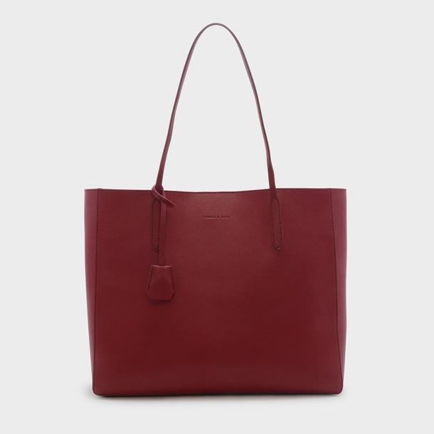 basic bag tote bag red