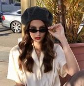 sunglasses,sunnies,black sunglasses,cat eye,cat-eyed sunglasses,accessories,Accessory,glasses,retro,retro sunglasses,small sunglasses,thin sunglasses