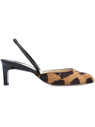 animal pumps print animal print brown shoes