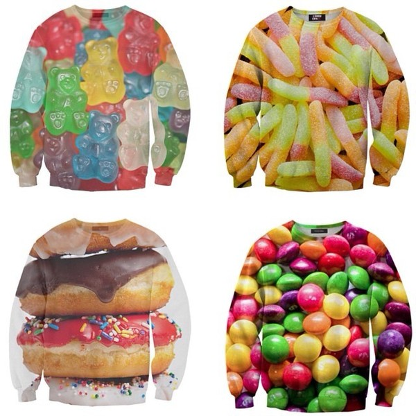 sweater clothes oversized sweater candy donut easter