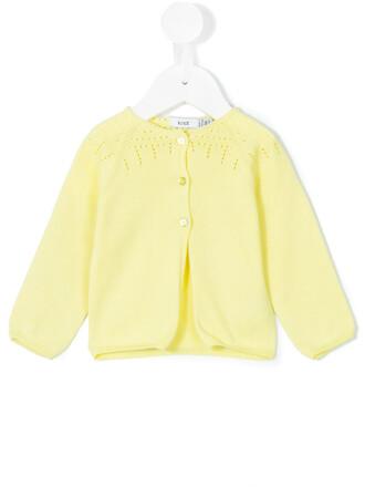cardigan cotton yellow orange sweater