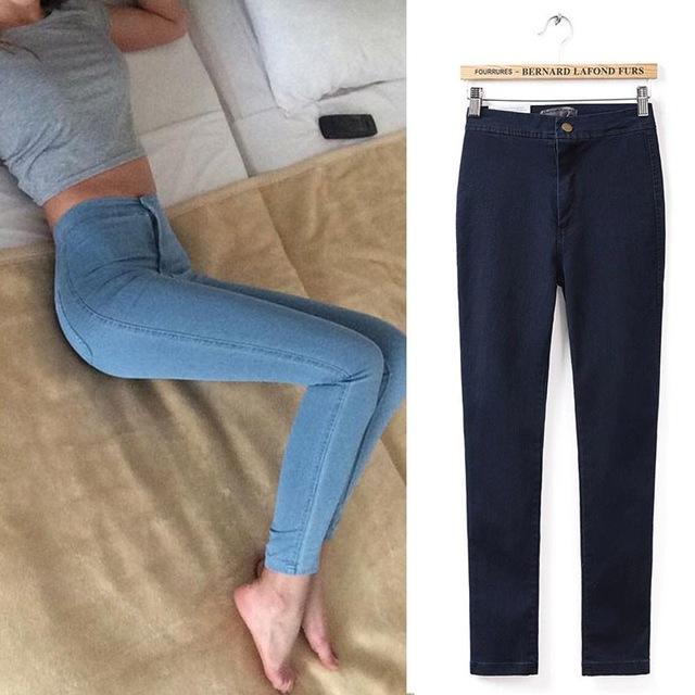 Aliexpress.com : Buy Skinny Jeans Woman Plain Hight Waist Jeans Women Stretch Waist Slim Pencil Pants Jeans Femme Jean Taille Haute from Reliable jeans male suppliers on Fashion Sunlight