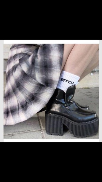 shoes grunge hipster socks