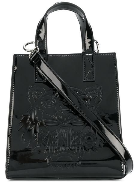women tiger cotton black bag
