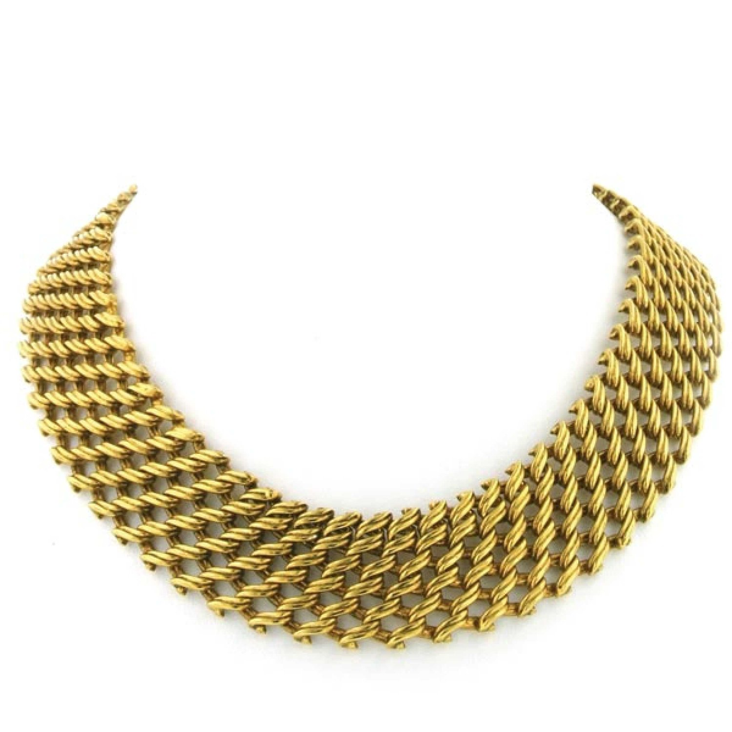 Amazon.com: Antique 17 Gold Collar Choker Gold Plated: Choker Necklaces: Jewelry