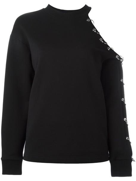 CHRISTOPHER KANE sweatshirt women cotton black sweater