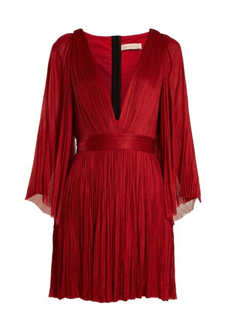 Maria Lucia Hohan dress mini dress mini pleated silk red