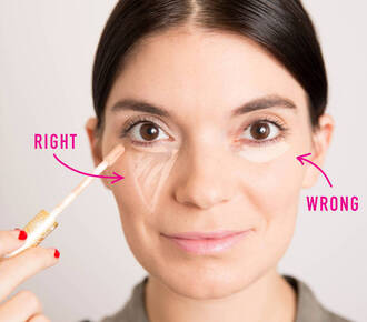 make-up beauty hacks concealer eye makeup