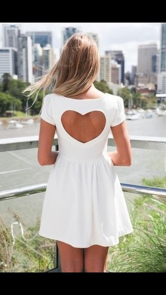 dress heart white