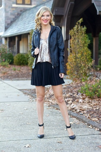 life with emily blogger top skirt shoes jacket jewels