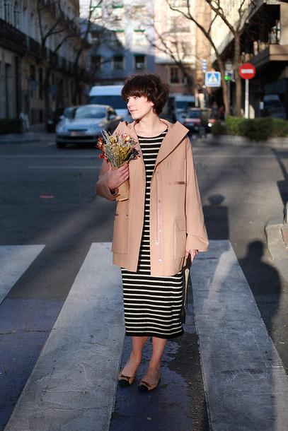 che cosa blogger dress coat bag