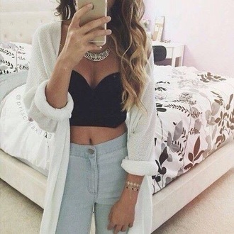 blouse black white summer princess white crop tops black crop top style croptop blackandwhite body goals