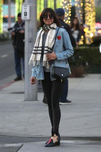 shirt boots streetstyle fall outfits nina dobrev scarf