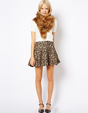 ASOS | ASOS Faux Fur Ginger Fox Scarf at ASOS