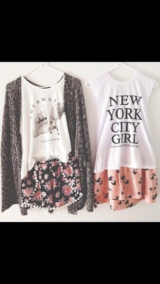 shorts new york l.a. skirt