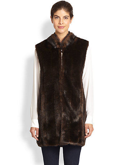 Donna Salyers for Saks Fifth Avenue - Everywhere Faux Fur Vest - Saks.com