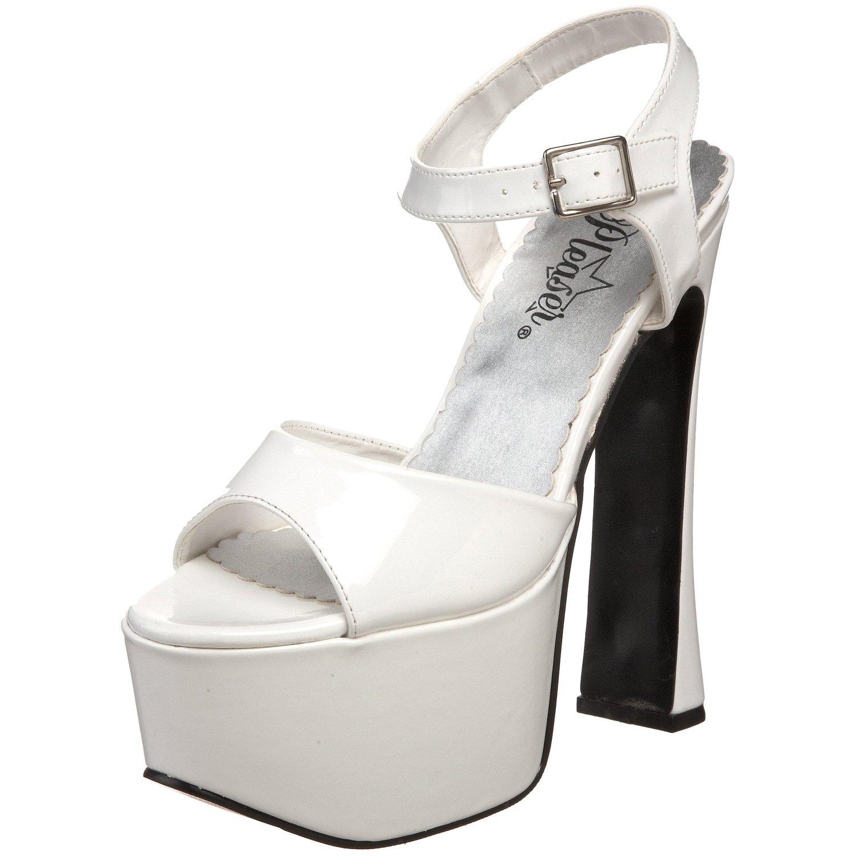 e3db5f65a7f Amazon.com  Pleaser Women s Candy-09 Platform Sandal  White ...
