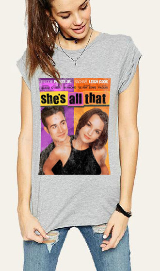 t-shirt shes all that freddie prince jr does anyone remember this tumblr shirt movies vintage 90s style grunge i just love it love movie poster graphic tee