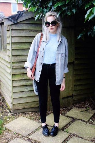 jacket grunge denim hipster tumblr summer soft grunge blue black white shoes top lightgrunge