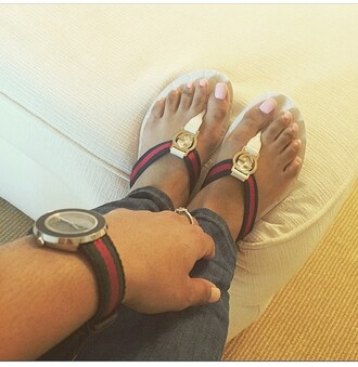 shoes white gucci gucci white sandals nail accessories rainbow sugar nail red orange yellow green and blue