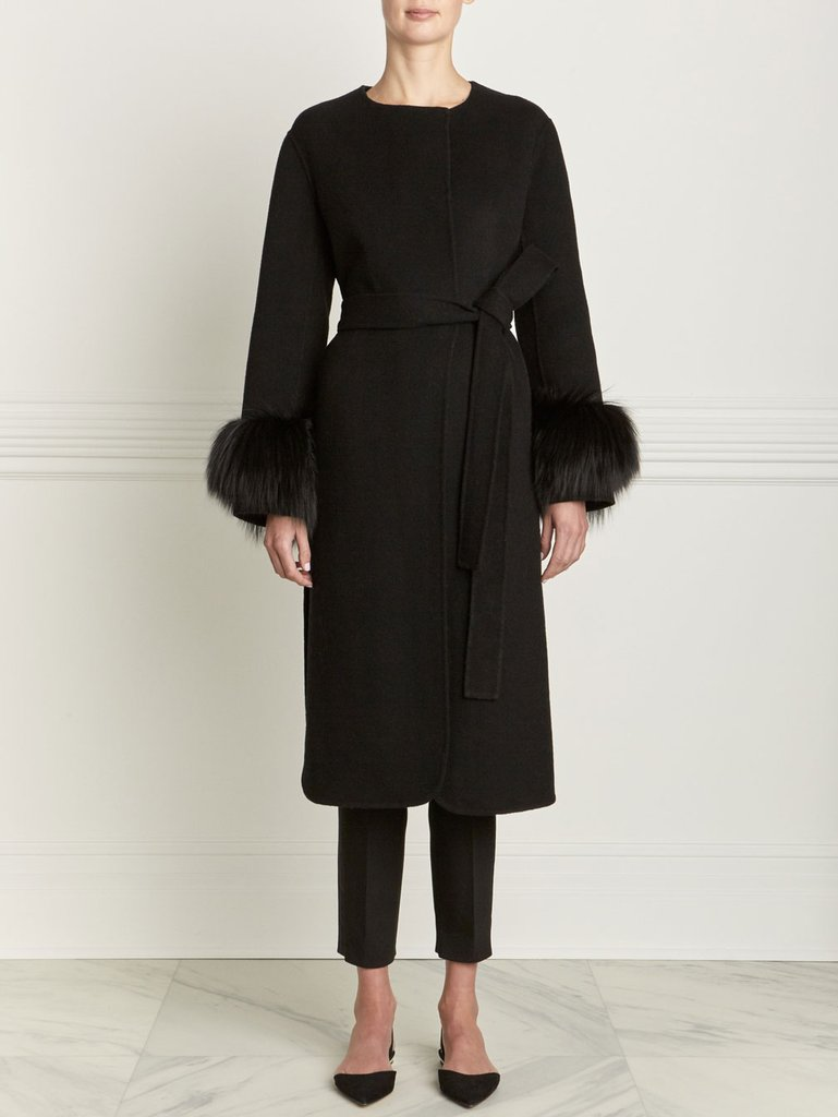 The Evelyn Cashmere Wool with Fox Fur Coat