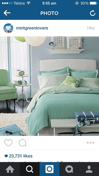 home accessory mint bed bedding bedroom mint