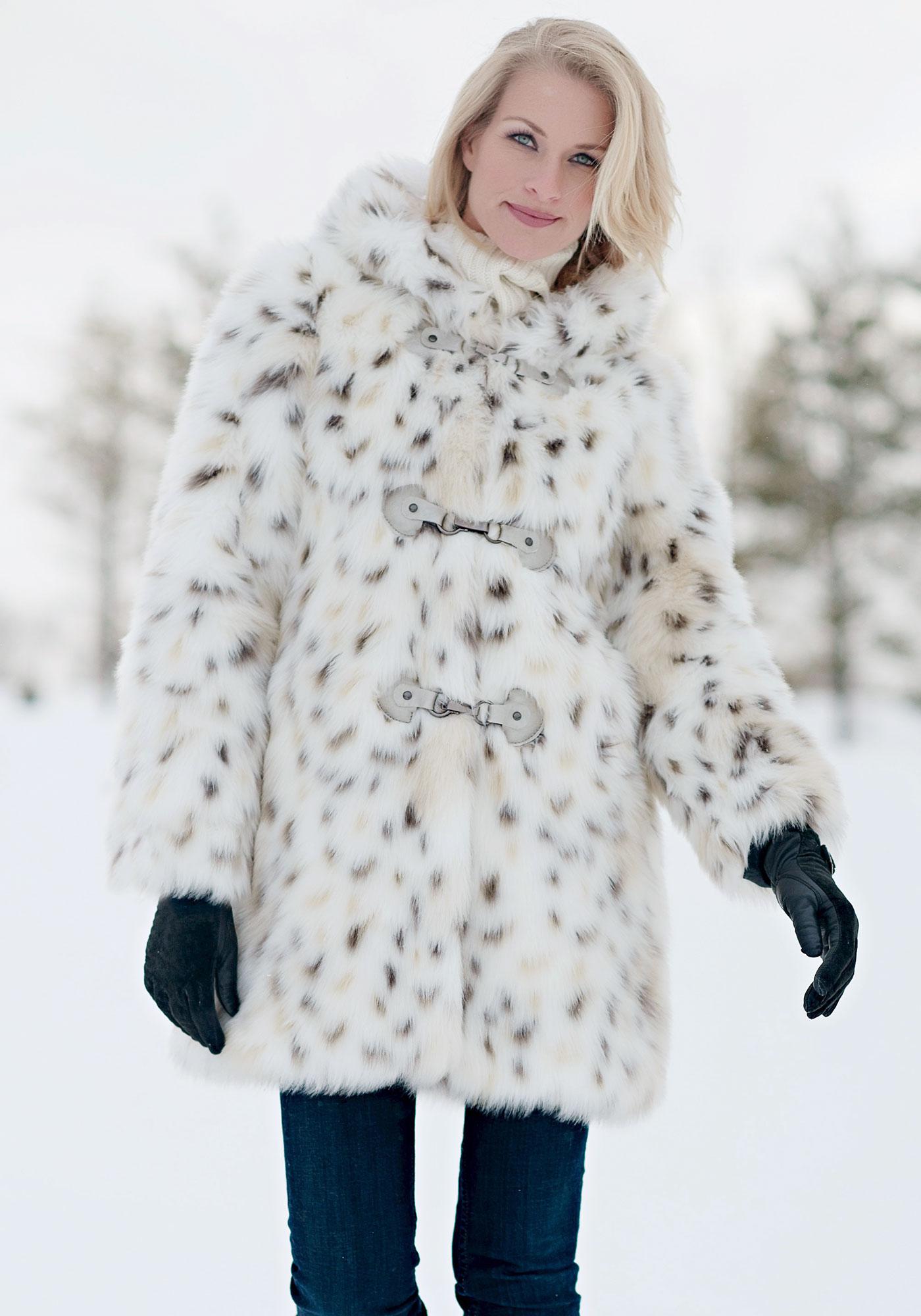36cf7fb7ecde Snow Leopard Hooded Faux Fur Coat | Fabulous-Furs