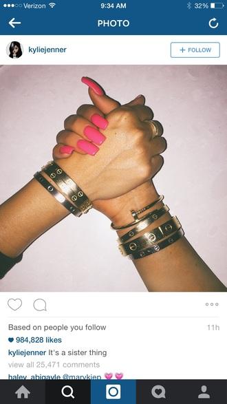 jewels stacked bracelets