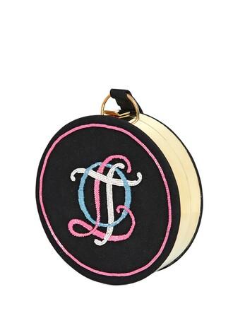 embellished clutch black pink bag