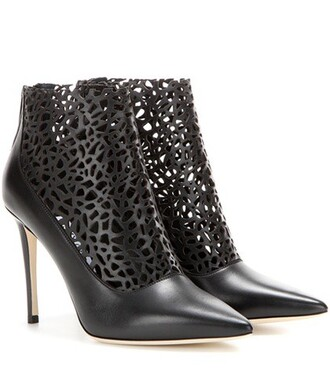 leather ankle boots cut-out 100 boots ankle boots leather black shoes