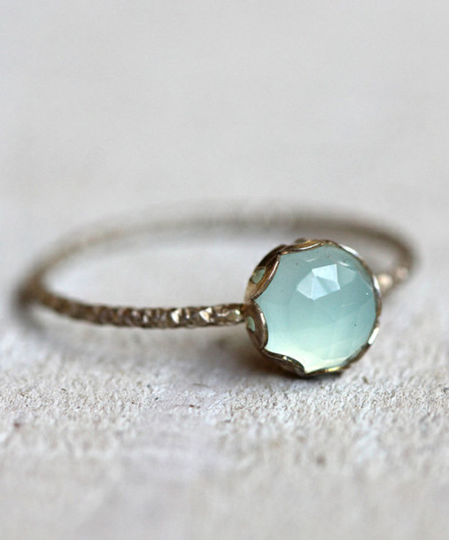 Jewels Engagement Ring Hipster Wedding PLL Ice Ball Blue Accessory Jewelry Turquoise