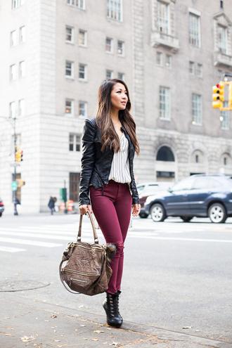 wendy's lookbook blogger top jacket jeans shoes bag jewels