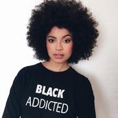 t-shirt,black addicted