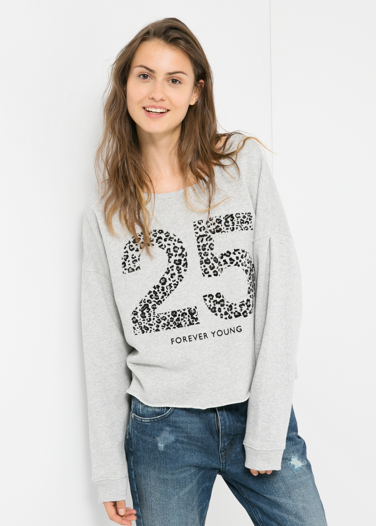 printed sweatshirt - Women | MANGO