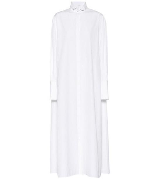 The Row Cotton maxi dress in white