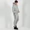 Mdv embossed hoody - light grey