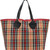 Burberry - XL checked tote - women - Cotton/Leather - One Size, Nude/Neutrals, Cotton/Leather