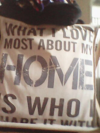 home accessory pillow quote on it pillow