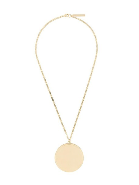Givenchy women necklace pendant grey metallic jewels
