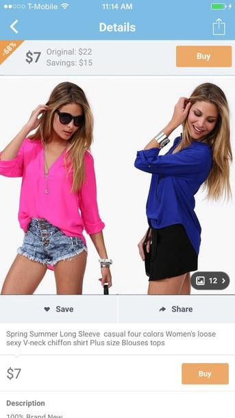 shorts blouse sunglasses style loose tops denim shorts