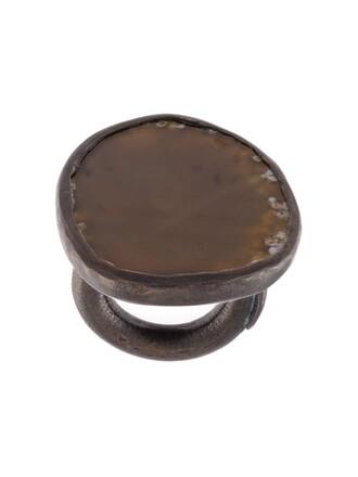 women ring black brown copper jewels