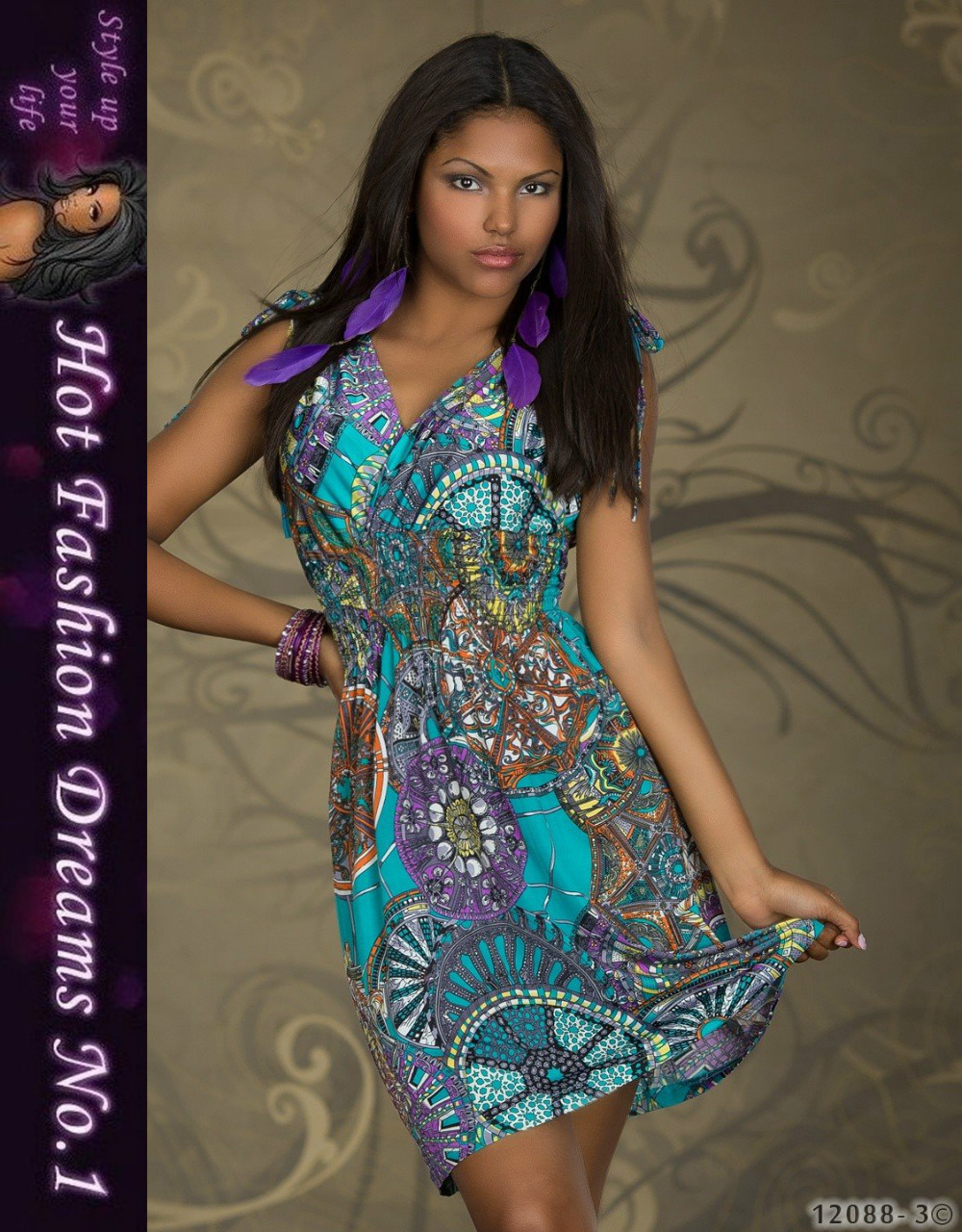 M XXL Plus Size 2014 New Fashion Women Floral Printed Vintage Mini Dress 4152 | Amazing Shoes UK