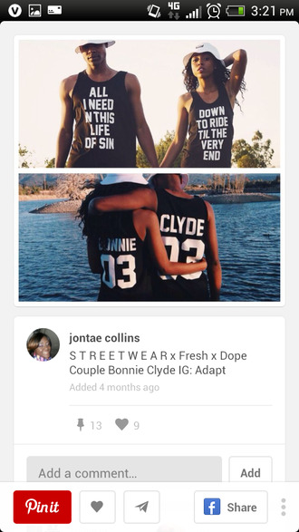 jersey couples shirts bonnie and clyde toocute menswear