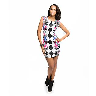 Nicki Minaj Women's Sheath Dress - Harlequin Floral - Clothing - Women's - Dresses
