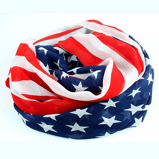 Women Fashion American USA Flag Bandana Long Scarf Kerchief Pashmina Wraps Shawl | eBay